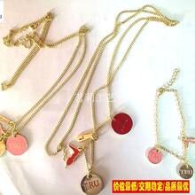 金属吊饰挂件定制,多用金属吊饰可当挂件可当项链吊坠,彩色金胸花图片
