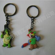 广东设计制作卡通人物PVC软胶钥匙扣塑胶钥匙链定做图片
