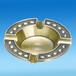 广州茗莉土豪金烟灰缸定制锌合金高端烟灰缸
