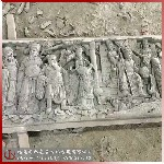 八仙祝壽麒麟獻瑞寓意美好的青石浮雕加工惠安石材浮雕廠家