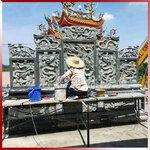 寺院建筑裝飾石雕屏風雙面雕龍福建石材浮雕壁畫廠家加工