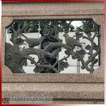梅蘭竹菊石材鏤空浮雕建筑石花窗青石浮雕加工