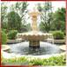 埃及米黃水琺大理石雙層疊水缽石雕石雕成品水缽效果展示