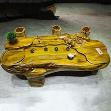 根雕茶几实木天然脚整体树根茶台花梨木大板桌原木家具
