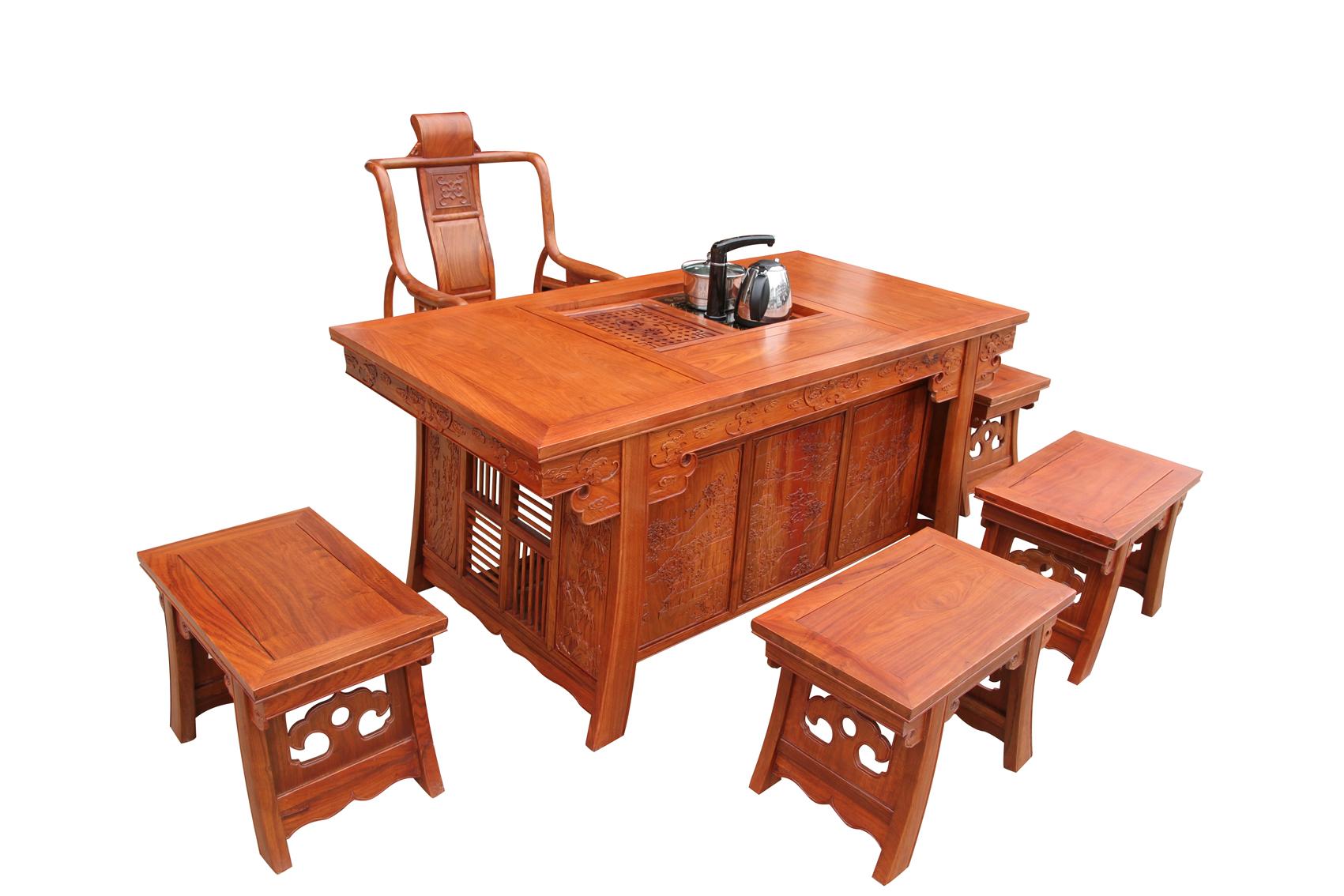 东阳家具批发/东阳家具市场/东阳成套家具价格/红木茶桌/红木茶台