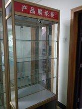 现货供应玻璃展示柜化妆品展示柜礼品展示柜钛合金展示图片