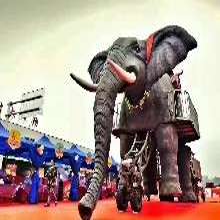 全国商业展览机械大象复古火车恐龙租赁展示