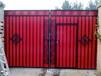 专业加工庭院铁艺大门欧式花型锻造大门别墅铁艺入口大门