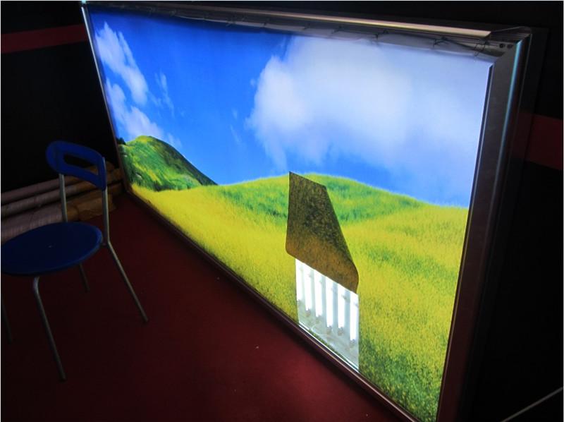 翻盖铝合金高亮LED拉布灯箱6公分边框的拉布灯箱