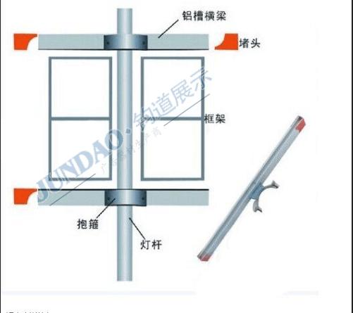 广东校务铝板反光贴灯杆旗生产