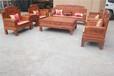 东阳中式仿古花梨红木实木沙发组合六合同春11件?#21331;?#21381;家具