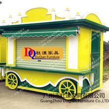 广场售卖车实木售货车流动贩卖亭步商业广场零售花车图片