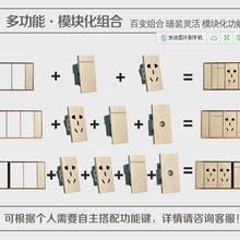 118型大板墻壁開關118組合型開關插座高級酒店連體墻壁開關圖片
