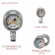 立柱双针压力表含油?#21202;?0MPa顶煤液压支架配件图片