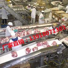 猪肉分割线耐油输送带,肉类食品专用输送带,火腿肠输送带图片