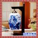 景德镇陶瓷灯具青花粉彩薄胎台灯卧室床头现代中式仿古典台灯