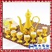 黃底龍紋顏色釉自動倒酒定做酒瓶酒具酒壇高檔饋贈禮品
