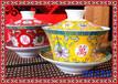 功夫茶杯陶瓷主人杯手绘描金品茗杯全手工青花瓷小茶杯景德镇茶具