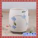 圆形陶瓷花盆白色种花种菜盆底部有孔景德镇高温瓷