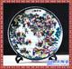 景泰蓝掐丝圆盘牡丹花开陶瓷盘摆件外事礼物会议出国纪念品
