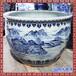 潑墨山水國畫圖片景德鎮優質大師手繪描金陶瓷大缸喬遷擺件