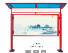 浙江省温州市挂墙橱窗宣传栏型材中国红立柱铝材框体