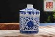 高温陶瓷密封罐传世青花瓷罐