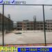 定安籃球場圍網價格體育場護欄網規格組裝式勾花網