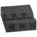 3孔黑色插头2mm孔间距A4B-3S-2CHIROSE正品接插件