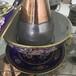 直径30cm景泰蓝火锅传统木炭火锅铜火锅老式铜火锅