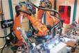 陜西歡顏焊接機器人消防泵管道相貫線焊接實例
