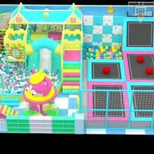 室内儿童乐园大型淘气堡亲子乐园超级蹦床图片