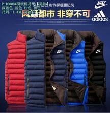 广州批发高品质阿迪达斯运动服耐克运动服批发加厚不倒绒羽绒棉衣批发
