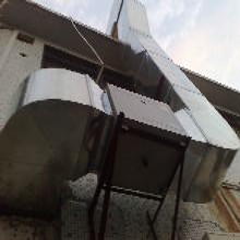 东城通风管道厨房排烟管道加工白铁风管烟罩制作安装