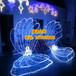 河蚌造型灯龙彩灯富贵树图案灯蝴蝶结灯杆挂件祥云灯饰