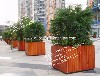 广西步行街定制实木花箱时尚热销厂家直销