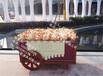 上海购物广场定制展示花车户外实木防腐花车