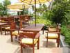 景区定制实木桌椅公园时尚套椅广场定制户外套椅厂家直销