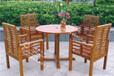 广州沙湾古镇美食户外桌椅户外实木防腐套椅热卖产品