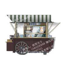 攀枝花商业街木质售货车广场户外钢售货车木质售货亭图片