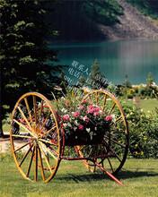 花都步行街木制花车户外实木展示花车广场单车造型花车图片