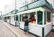 香港购物中心时尚售卖亭奶茶饮料售卖车木制售货屋