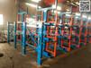 伸縮式懸臂貨架新案例在浙江杭州存放管材鋼材型材棒料