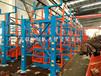 遼寧沈陽鋼材倉儲配合起重機行吊的伸縮式懸臂貨架