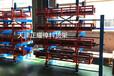 四川雅安棒料貨架伸縮懸臂式結構使用吊車存放重型棒材