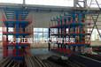 江西宜春伸縮式懸臂貨架典型案例存放鋼材