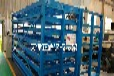 江蘇淮安鋼板貨架配合吊車吸盤使用中間直接存取方便