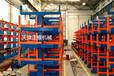 廣東深圳圓鋼貨架伸縮懸臂式棒料存放架銅棒鋁棒擺放架