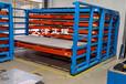 湖南郴州鋼板貨架抽屜式板材貨架重型貨架銅板鋁板架子