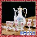 陶瓷白酒黄酒杯酒瓶中式仿古酒具套装家用酒壶九件套送礼礼品